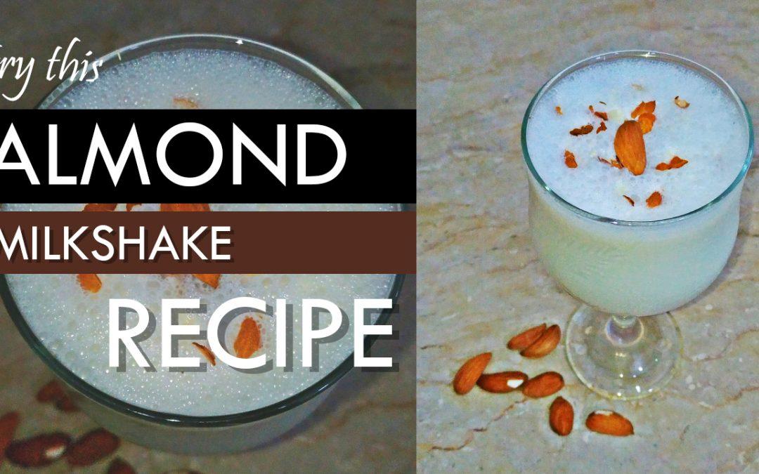 Almond Milkshake Recipe by Mocktail Tricks